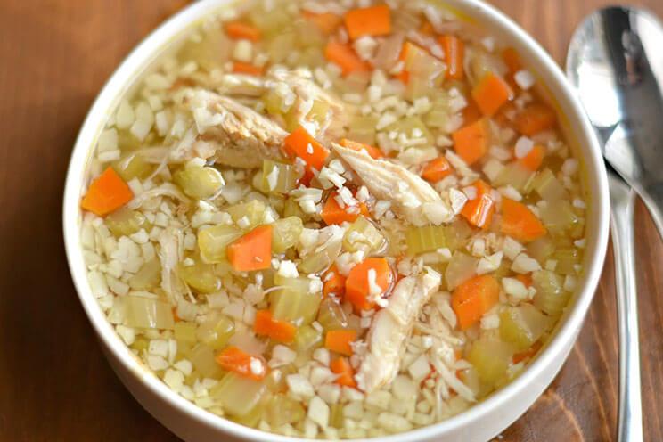 Crockpot Chicken And Cauliflower Rice Soup Recipe