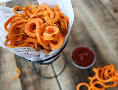 How to Make Healthy Curly Fries with Sweet Potatoes