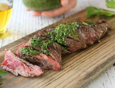 How to Make Juicy Skirt Steak with Chimichurri Sauce