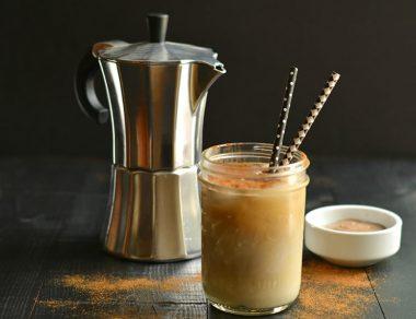Iced Caramel Macchiato with Almond Milk