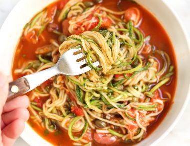 One-Pan Zucchini Pasta Puttanesca Recipe