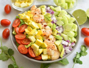Shrimp and Avocado Salad with Light Cilantro Dressing