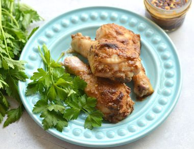 Sticky Sweet Caramelized Baked Chicken Legs