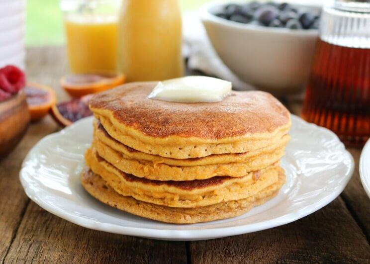 Fluffy thick sweet potato pancakes paleohacks sweet potato pancakes main image 1g ccuart Images