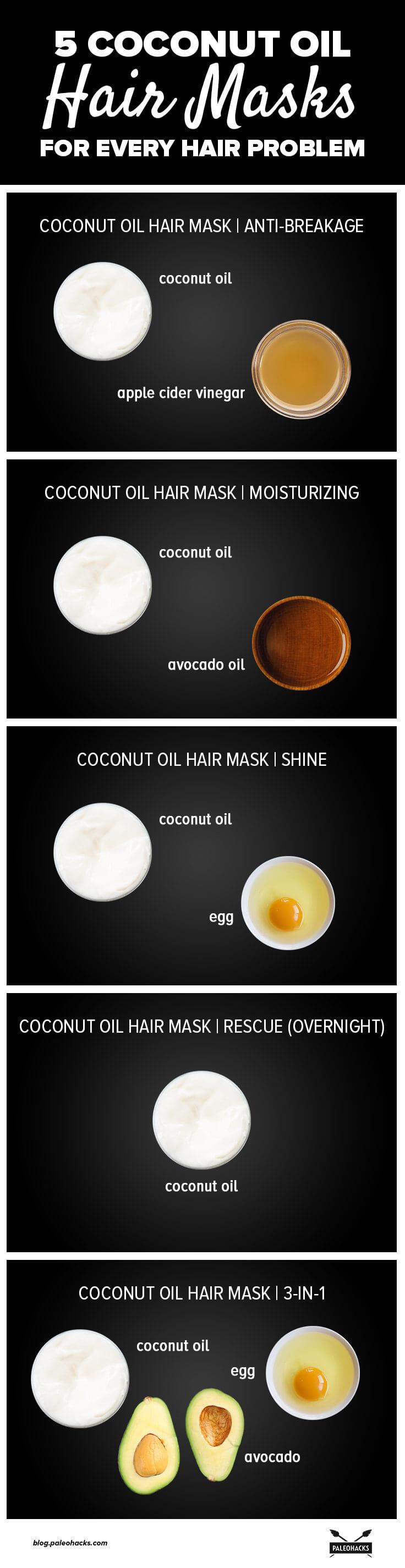 5 Coconut Oil Hair Masks For Every Hair Problem Paleohacks