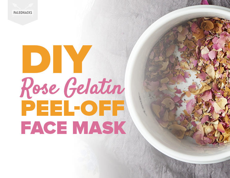 Diy rose gelatin peel off face mask paleohacks diy rose gelatin peel off face mask solutioingenieria Choice Image