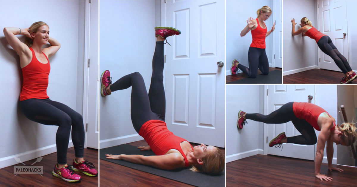 10 Minute Hiit Wall Workout To Tone Abs Arms And Thighs