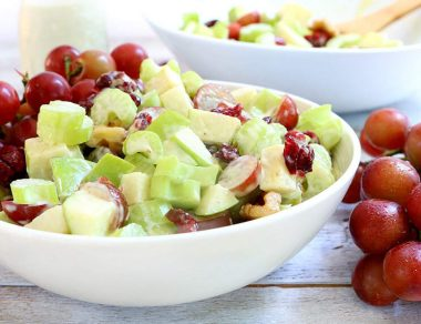 The Best Waldorf Salad with Healthy Apple Cider Vinegar
