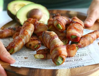 Bacon-Wrapped Avocado Fries