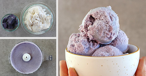Purple Sweet Potato Ice Cream Dairy Free Paleo Antioxidant Rich