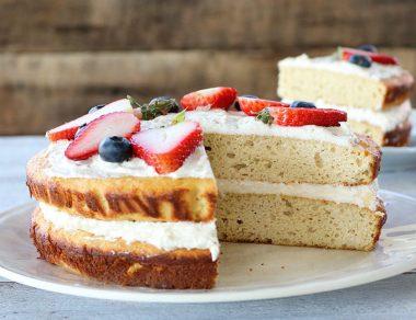 Fluffy Coconut Flour Vanilla Cake Recipe