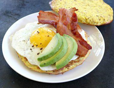 "Healthy Cauliflower Egg ""McMuffin"""