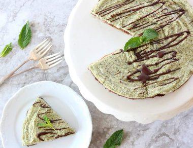 No-Bake Paleo Mint Chocolate Cheesecake