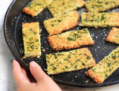 Cauliflower Breadsticks with Zero Gluten