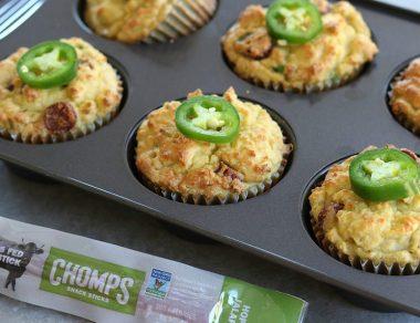 Coconut Flour Cornbread Muffins with Jalapeño Jerky