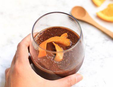 Dark Chocolate Orange Chia Pudding