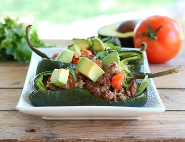Easy, Meaty Stuffed Poblano Peppers