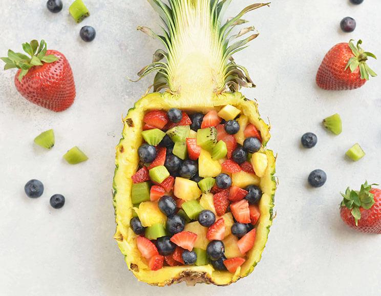 Pineapple Fruit Salsa with Strawberries, Blueberries & Kiwis