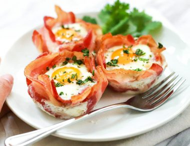3-Ingredient Bacon and Egg Cups