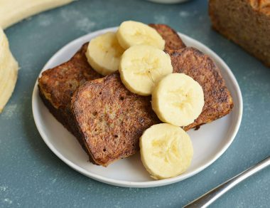 Banana Bread French Toast (Gluten Free, Paleo)