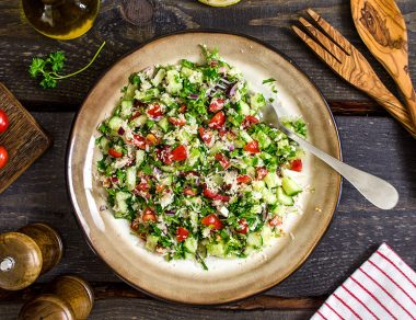 "Cauliflower ""Rice"" Tabbouleh"