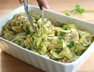 Easy Creamy Chicken Zoodle Casserole