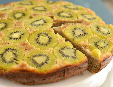 Paleo Upside Down Kiwi Cake