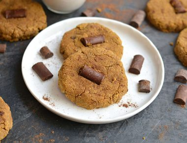 Pumpkin Spice Cookies with Dark Chocolate Chunks