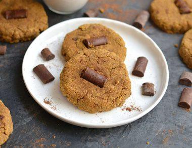 Pumpkin Spice Cookies with Dark Chocolate Chunks