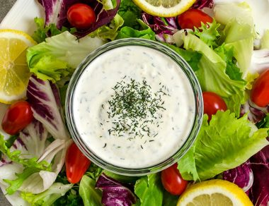 The Best Ranch Dressing Recipe with 4 Ingredients
