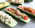 Breadless Cucumber Subs, 4 Ways