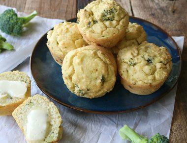 """Cheesy"" Broccoli Breakfast Muffins"