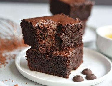 Dark Chocolate Applesauce Brownies