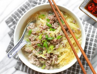 No-Noodle Beef and Spaghetti Squash Soup