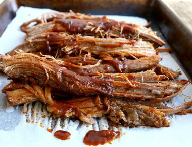Slow Cooker Beef Brisket Smothered with BBQ Sauce