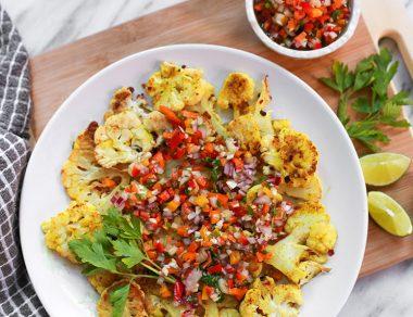 The Best Cauliflower Nachos (Gluten Free, Paleo)