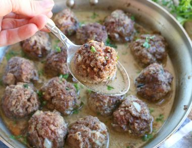 The Best Swedish Meatballs Smothered in a Creamy, Dairy-Free Sauce