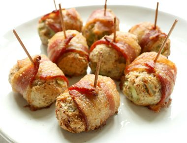 Bacon-Wrapped Stuffing Bites