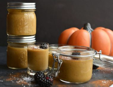 Easy Pumpkin Custard in a Jar