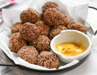 Almond-Crusted Jerky Boudin Balls