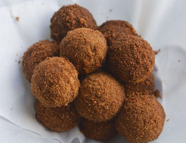 Gingerbread Donut Holes with Almond Flour