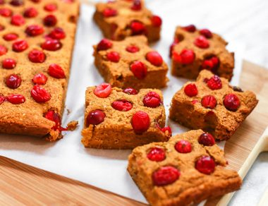 Sweet Potato Cranberry Breakfast Bars
