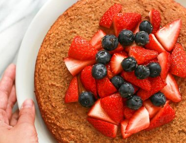 Coconut Flour Kombucha Honey Cake
