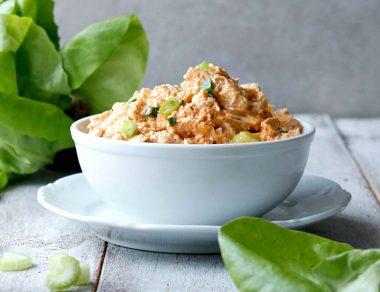 Easy Buffalo Chicken Salad (Keto + Paleo)