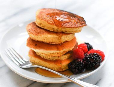 Japanese-Style Soufflé Pancakes (Gluten Free, Paleo)