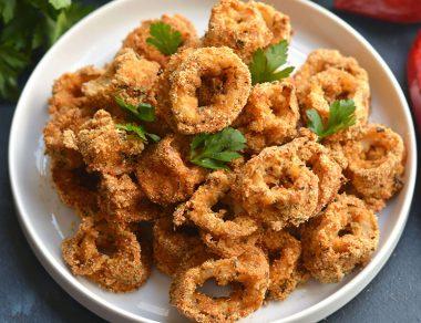 Spicy Sheet Pan Baked Calamari