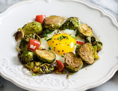 Runny Eggs + Brussels Sprouts Power Breakfast