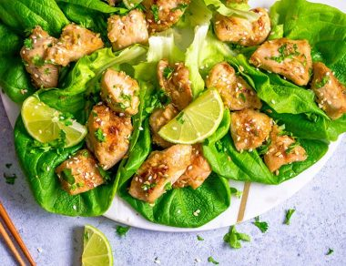 These Paleo Lemongrass Chicken Wraps Are The Perfect Light + Healthy Lunch
