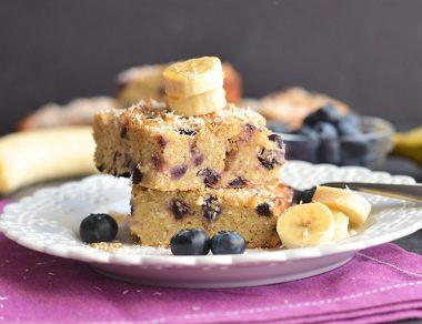 Blueberry 'Oatmeal' Breakfast Cake