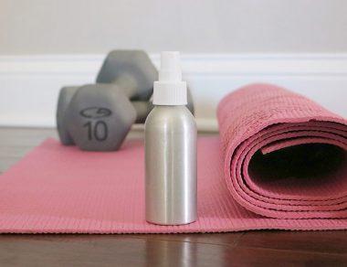 DIY Yoga Mat Spray (Just 3 Ingredients + Kills Bacteria)